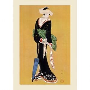 喜多川歌麿「立美人」【ハンカチ・コースター・複製画】