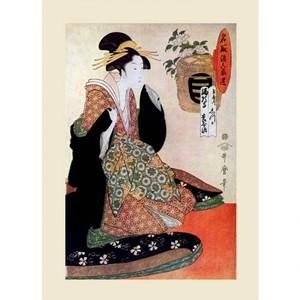 喜多川歌麿「取酒六家選 玉屋内しづか」【ハンカチ・コースター・複製画】