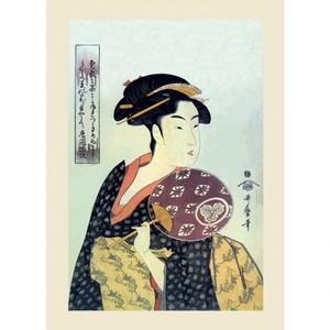 喜多川歌麿「団扇を持つおひさ」【ハンカチ・コースター・複製画】