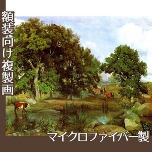 コロー「フォンテーヌブローの森の光景」【複製画:マイクロファイバー】