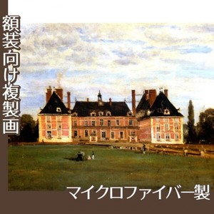コロー「ロニーのベリー公爵夫人の城」【複製画:マイクロファイバー】