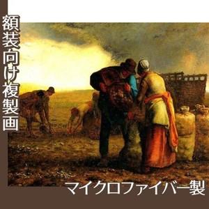 ミレー「馬鈴薯の収穫」【複製画:マイクロファイバー】
