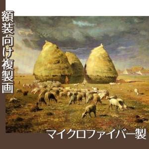 ミレー「秋:積み藁」【複製画:マイクロファイバー】