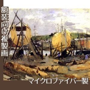モリゾ「建造中の船」【複製画:マイクロファイバー】
