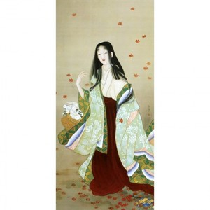上村松園「花がたみ」【窓飾り】