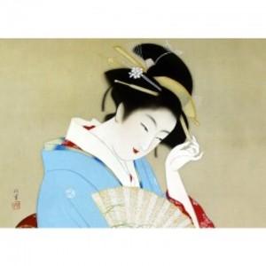 上村松園「春のよそをひ」【窓飾り】