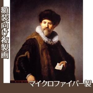レンブラント「ニコラース・ルッツの肖像」【複製画:マイクロファイバー】
