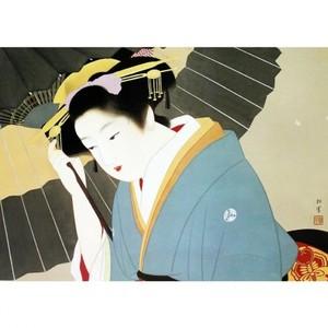 上村松園「雪」【額装向け複製画】