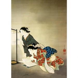 上村松園「長夜」【ハンカチ・コースター・複製画】