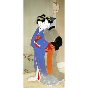 上村松園「春宵2」【襖紙】