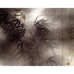 横山大観「夏之夜」【窓飾り】