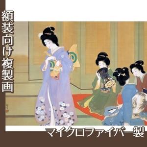 上村松園「舞仕度3」【複製画:マイクロファイバー】