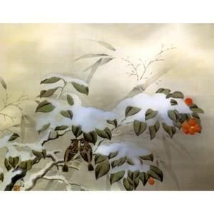 横山大観「冬之夕」【窓飾り】