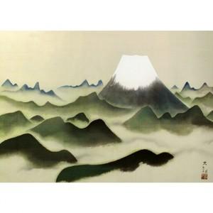 横山大観「霊峰十趣・山」【窓飾り】