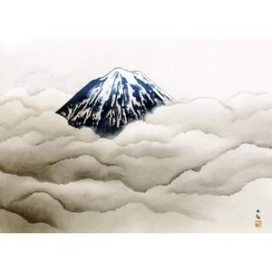 横山大観「霊峰夏不二」【窓飾り】