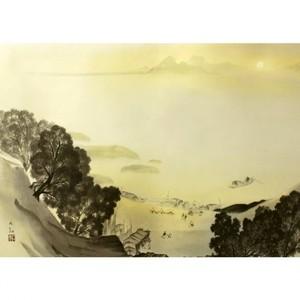 横山大観「瀟湘八景・漁村返照2」【窓飾り】