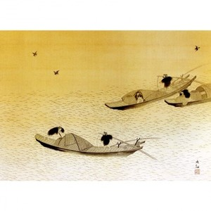 横山大観「漁舟」【窓飾り】