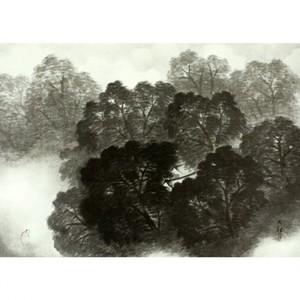 横山大観「雨後」【窓飾り】
