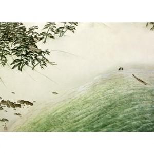 横山大観「海に因む十題:濱海」【窓飾り】