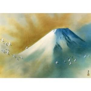 横山大観「霊峰飛鶴」【額装向け複製画】