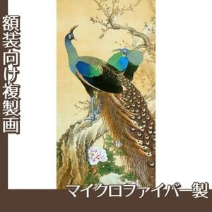 今尾景年「孔雀」【複製画:マイクロファイバー】