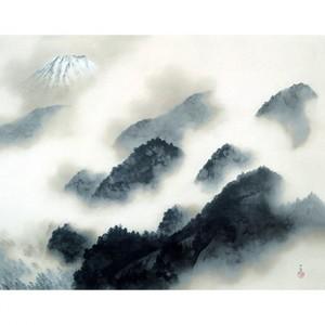 横山大観「雨霽る」【障子紙】