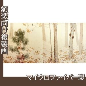 菱田春草「落葉(右)」【複製画:マイクロファイバー】