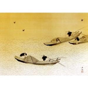 横山大観「漁舟」【額装向け複製画】