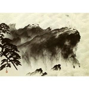 横山大観「漁夫」【額装向け複製画】