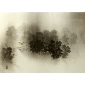 横山大観「瀟湘八景・瀟湘夜雨2」【障子紙】