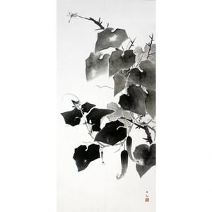 横山大観「胡瓜」【タペストリー】