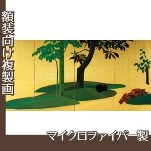 速水御舟「翠苔緑芝(右)」【複製画:マイクロファイバー】