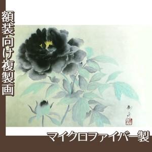 速水御舟「墨牡丹」【複製画:マイクロファイバー】