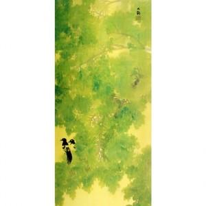 横山大観「緑雨」【襖紙】