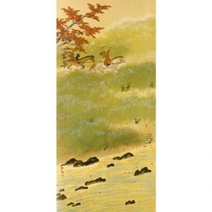 横山大観「春の水・秋の色(秋の色)」【襖紙】