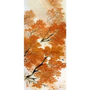 横山大観「春雨・秋雨(秋雨)」【襖紙】
