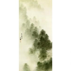 横山大観「瀟湘八景・山市晴嵐」【襖紙】