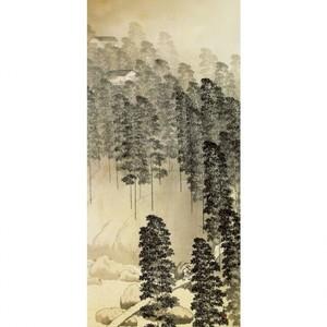 横山大観「竹雨1」【襖紙】