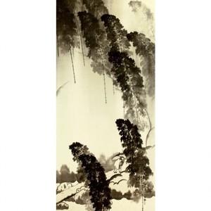 横山大観「竹雨2」【襖紙】