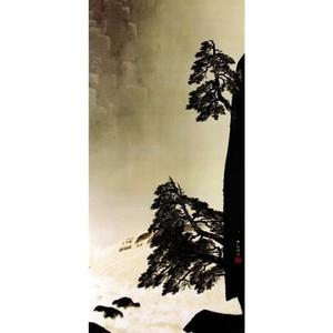 横山大観「飛泉2」【襖紙】