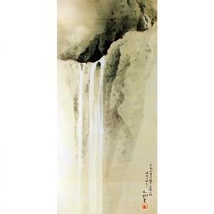 横山大観「瀑布四題之三」【額装向け複製画】