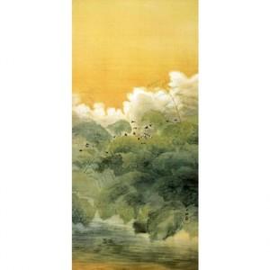 横山大観「夏日四題・黄昏」【障子紙】