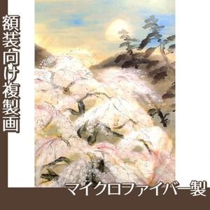 冨田溪仙「祇園夜桜図」【複製画:マイクロファイバー】