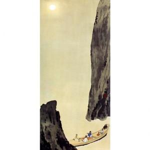 横山大観「赤壁の月」【襖紙】