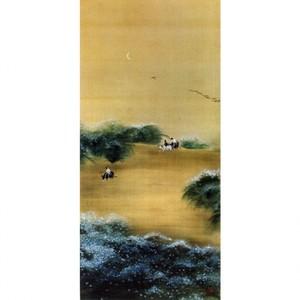 横山大観「月下牧童」【タペストリー】