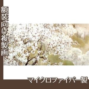 木島桜谷「小雨ふる吉野(左)」【複製画:マイクロファイバー】