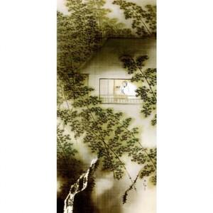 横山大観「山窓無月」【障子紙】