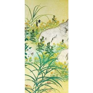 横山大観「野の花2」【襖紙】