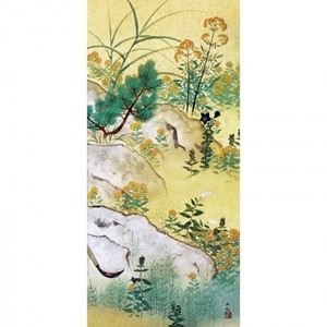 横山大観「野の花4」【襖紙】