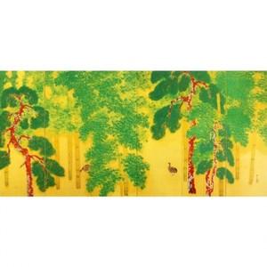 横山大観「柿紅葉(右隻)」【額装向け複製画】